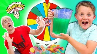 MYSTERY WHEEL OF SLIME! SOUR CANDY CHALLENGE!