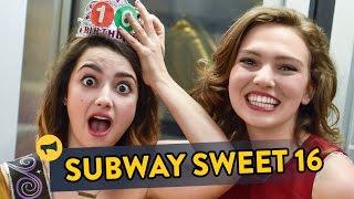 Subway Sweet Sixteen - a surprise birthday on the train!