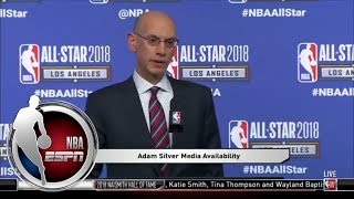 Adam Silver: I was proud of LeBron James' and Kevin Durant's responses to criticism | NBA on ESPN