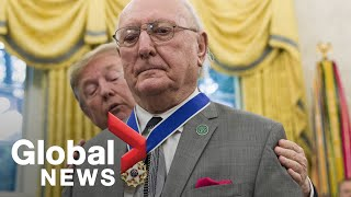 Donald Trump honours Bob Cousy with Presidential Medal of Freedom