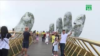 """""""Check in"""" cây cầu vàng ấn tượng ở Đà Nẵng   VTC14"""