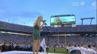 Fergie sings National Anthem at the NFL ( Miami Dolphins vs New England Patriot)