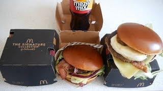 ASMR Burgers: McDonald's Signature Collection Burgers
