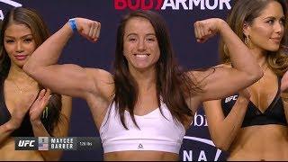 Roxanne Modafferi vs. Maycee Barber - Weigh-in Face-Off - (UFC 246: McGregor vs. Cerrone) - /r/WMMA
