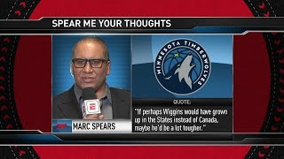 Marc J. Spears Calls Andrew Wiggins Soft | The Hangout