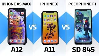 Speed Test: A11 vs A12 vs Snapdragon 845 (iPhone XS vs X vs Poco F1)