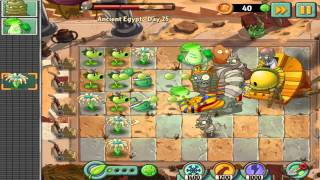 Plants vs Zombies 2: Ancient Egypt Day 25 -  Final Boss Fight