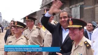 El ministro Martínez inauguró oficialmente la Campaña Antártica de Verano 2016-2017