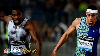 Michael Norman upsets Noah Lyles at Diamond League | NBC Sports