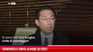 Terremoto a Tokyo: almeno 20 feriti