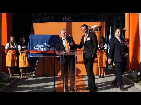 Sixt SE Global CEO Erich Sixt Speaks at Opening of Sixt's North American Headquarters in Ft. Lauderdale, FL.