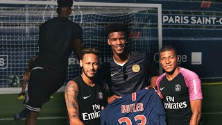 Neymar and Mbappe taught me how to take penalty kicks.   Jimmy Butler Travel Vlog