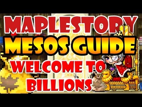 MapleStory The Best Mesos Guide : Welcome To Billions