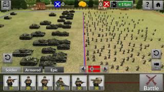 WAR world 2 battle simulator allied tank battalion V.S German troop army