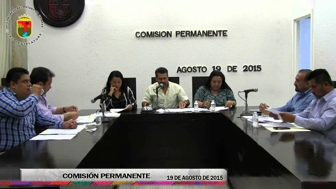 Comisión Permanente 19 de Agosto de 2015