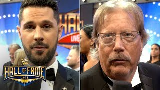 Tom Phillips and Miz's Dad on the WWE Hall of Fame Red Carpet: Exclusive, April 6, 2018