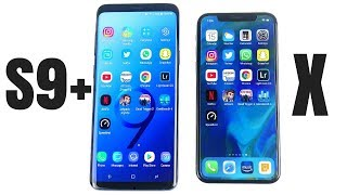 Galaxy S9 Plus vs iPhone X Speed Test!