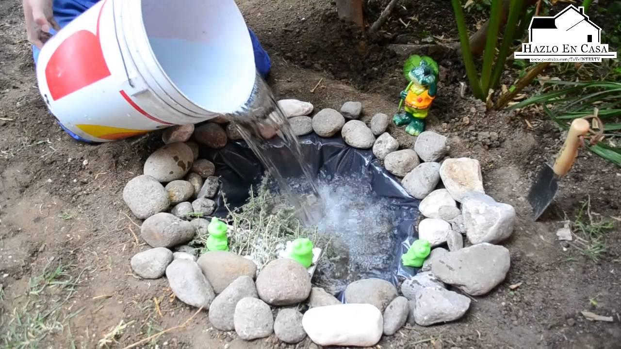 Hazlo en casa vie 15 mzo como hacer un estanque en el - Estanques en el jardin ...