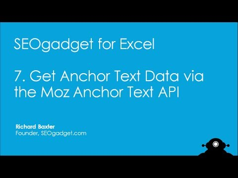 How to Get Moz Anchor Text Data into Excel