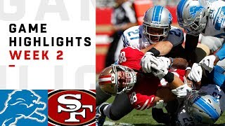 Lions vs. 49ers Week 2 Highlights | NFL 2018