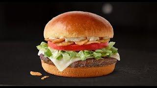New! McDonald's Garlic White Cheddar Burger
