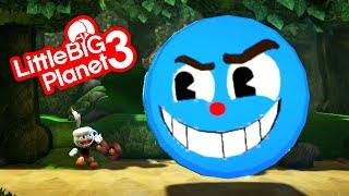 LittleBigPlanet 3 - Cuphead Boss Fight W.I.P - Goopy Le Grande - PS4 Gameplay