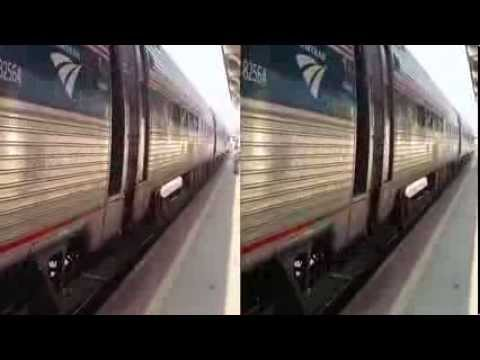 Amtrak Train approaching depot in Greensboro (YT3D:Enable=True)