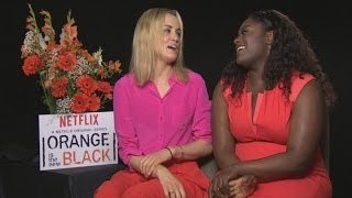 Orange Is The New Black: Taylor Schilling and Danielle Brooks get lovey dovey
