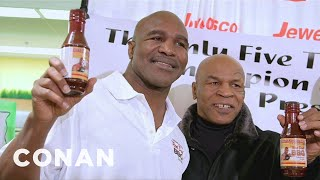 Mike Tyson Surprises Evander Holyfield At The Grocery Store