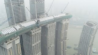 Massive air corridor 250 meters above ground connected in southwest China's Chongqing