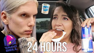 I Ate like Jeffree Star for 24 HOURS!! (and it was so much worse than I thought)