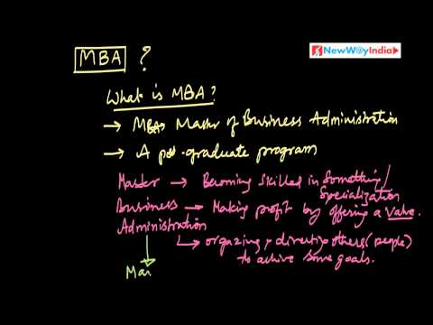 MBA 101 - 001 - What is MBA? (Best for MBA Beginners & MBA Aspirants)