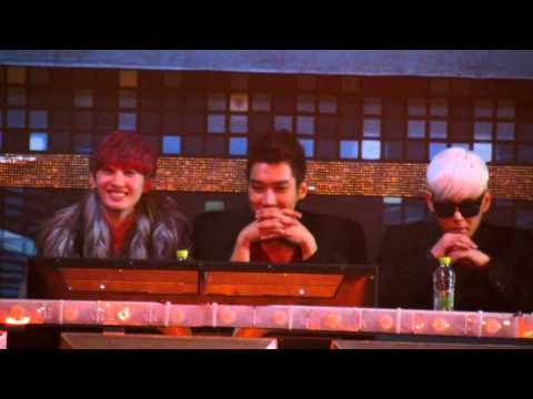 121229 [HD fancam] Hyuk, Siwon & Kangin 2ne1 at SBS Gayo