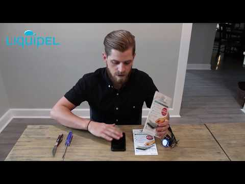 Liquipel's Invisible Screen Protection application process and demonstration