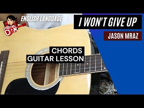 I Won\'t Give Up Chords - Jason Mraz Guitar Tutorial - YouTube ...