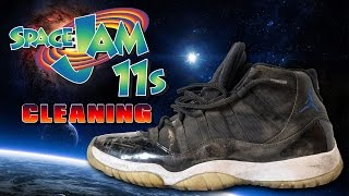 How to clean Air Jordan 11 Space Jams