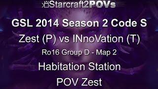 SC2 HotS - GSL 2014 S2 Code S - Soulkey vs INnoVation - Ro16 Group D - Map 2 - Hab Station - Soulkey