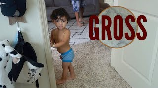 Potty Training Fail | he pooped on the floor :-)