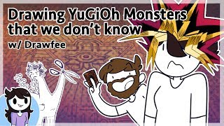 Drawing YuGiOh Monsters We don't know w/ Drawfee