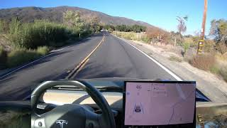 Tesla Autopilot Fast Winding Road v10 Full Unedited Drive
