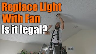 Cost To Install A Ceiling Fan Inplace Of A Light Fixture | Step By Step Instructions | THE HANDYMAN