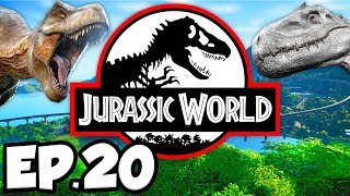 Jurassic World: Evolution Ep.20 - DINOSAURS BATTLE ARENA, NEW DINOSAURS GENOMES (Gameplay Lets Play)