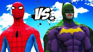 SPIDER-MAN VS JOKER BATSUIT - The Laughing Knight ( Joker / Batman ) vs Spiderman