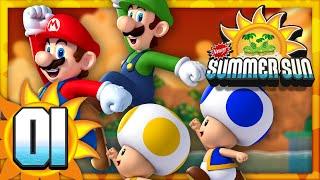 New Super Mario Bros. Summer Sun - Part 1 (4 Player)