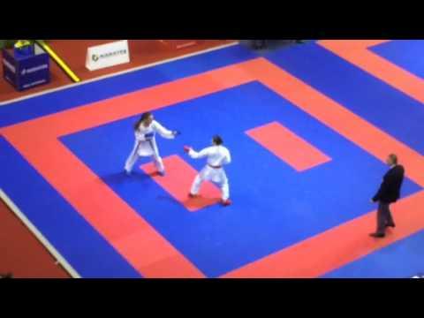 Premier League / Karate 1. Paris Open 2017. Stepashko Anastasia - Uekuba Ayumi (Japan). 3-rd round