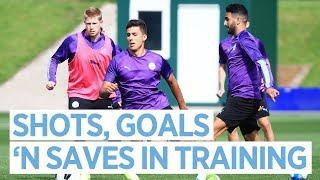 Shots, Goals 'n Saves in Training | Training | Man City