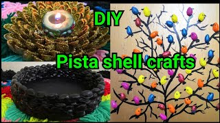 3 easy pista shell crafts|DIY crafts|3 ways to Reuse&Recycle pista shells|Asvi be creative