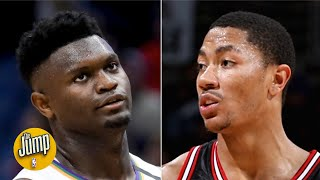 Watching Zion Williamson is as worrisome as watching early Derrick Rose - Nick Friedell | The Jump