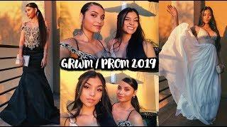 GRWM PROM 2019 With David's Bridal!   MontoyaTwinz