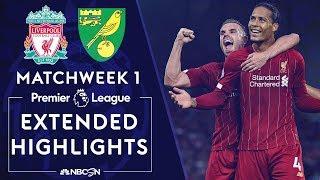 Liverpool v. Norwich City | PREMIER LEAGUE HIGHLIGHTS | 8/9/19 | NBC Sports